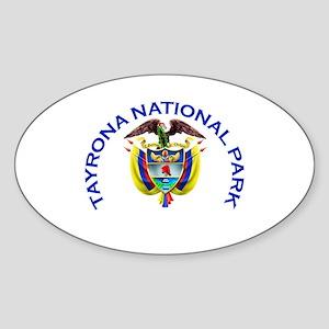 Tayrona National Park Oval Sticker