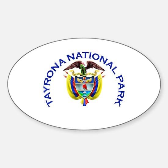 Tayrona National Park Oval Decal