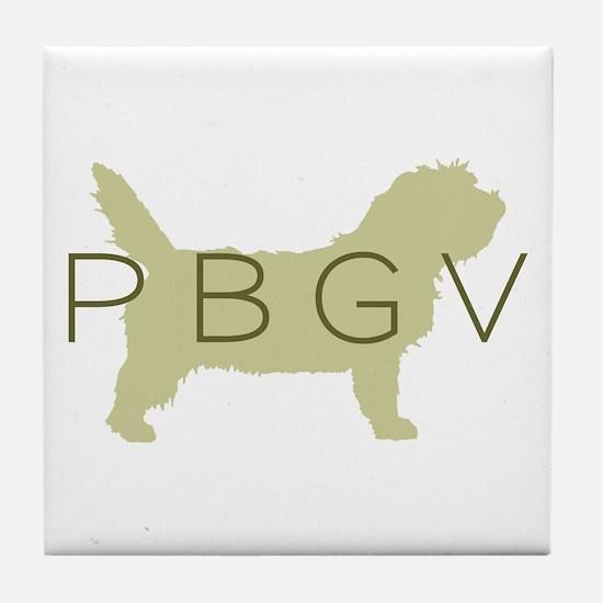 PBGV Dog Sage Tile Coaster