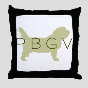 PBGV Dog Sage  Throw Pillow