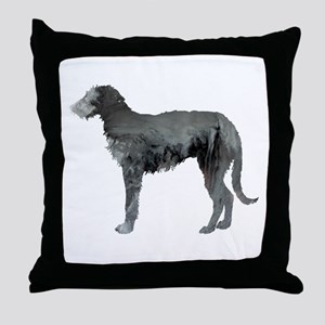 Deerhound Throw Pillow
