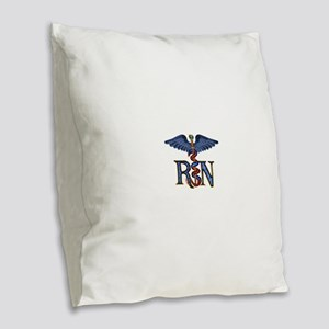 _nrn2 Burlap Throw Pillow