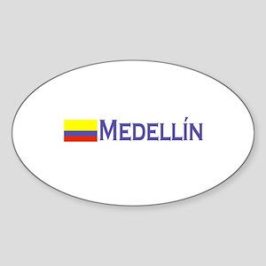 Medellin, Colombia Oval Sticker