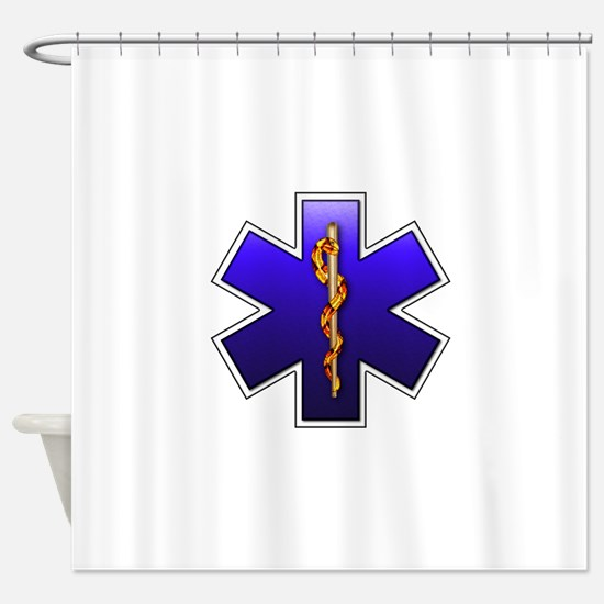 star_of_life.png Shower Curtain