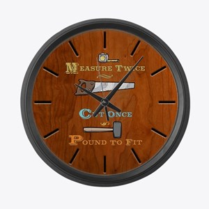 Measure Twice - Pound Large Wall Clock