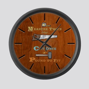 Measure Twice - Pound Large Wall Clock