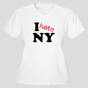 I hate NY Women's Plus Size V-Neck T-Shirt