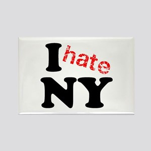 I hate NY Rectangle Magnet