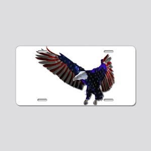 Red White and Blue American Aluminum License Plate