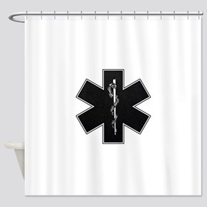 emt_bw Shower Curtain