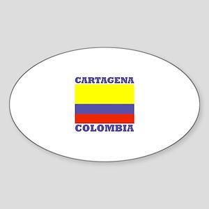 Cartagena, Colombia Oval Sticker