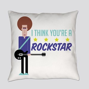 I Think You're A Rockstar Everyday Pillow