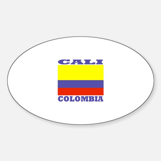 Cali, Colombia Oval Decal