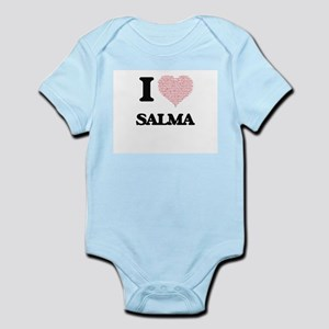 I love Salma (heart made from words) des Body Suit