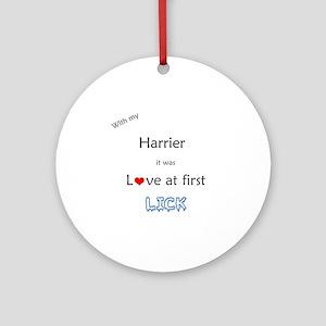 Harrier Lick Ornament (Round)