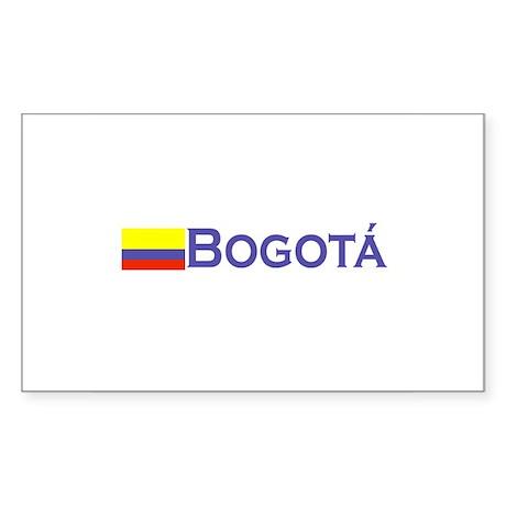 Bogota, Colombia Rectangle Sticker