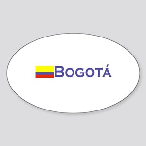 Bogota, Colombia Oval Sticker
