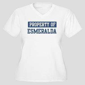 Property of ESMERALDA Women's Plus Size V-Neck T-S