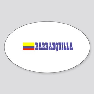 Barranquilla, Colombia Oval Sticker