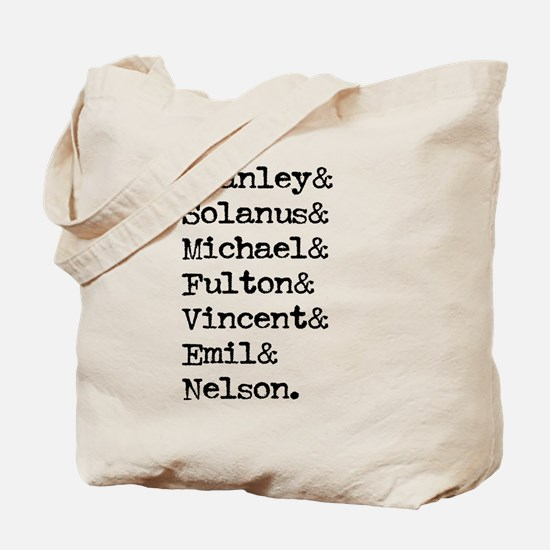 All American Priests front side Tote Bag