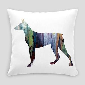 Doberman pinscher Everyday Pillow