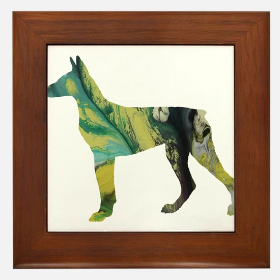 Doberman pinscher Framed Tile