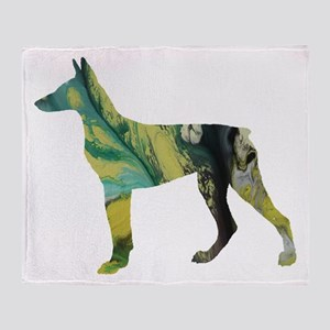 Doberman pinscher Throw Blanket