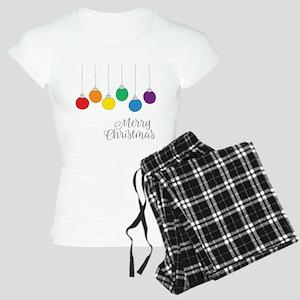 Merry Christmas Rainbow Balls Pajamas