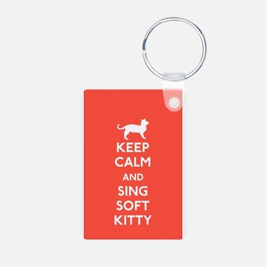Unique Keep calm soft kitty Keychains