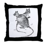 Banded Hare Wallaby Throw Pillow
