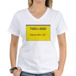 Large Poster Image Women's V-Neck T-Shirt
