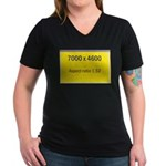 Large Poster Image Women's V-Neck Dark T-Shirt