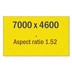 Large Poster Image Rectangle Sticker