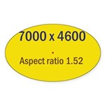 Large Poster Image Oval Sticker