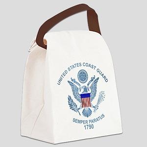 uscg_flg_d2 Canvas Lunch Bag