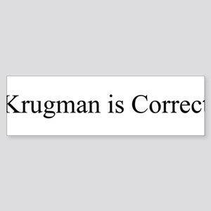 krugman Sticker (Bumper)