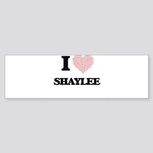 I love Shaylee (heart made from wor Bumper Sticker