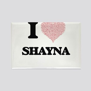 I love Shayna (heart made from words) desi Magnets