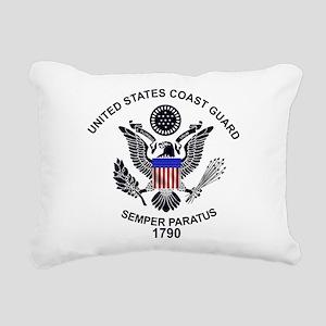 uscg_flg_w Rectangular Canvas Pillow