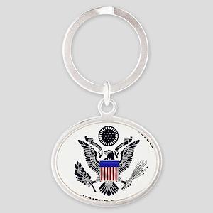 USCG Flag Emblem Keychains