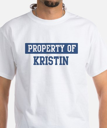 Property of KRISTIN White T-Shirt