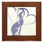 Greyhound Hearts Framed Tile