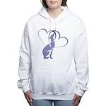 Greyhound Hearts Women's Hooded Sweatshirt