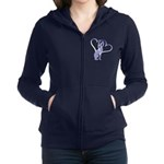 Greyhound Hearts Women's Zip Hoodie