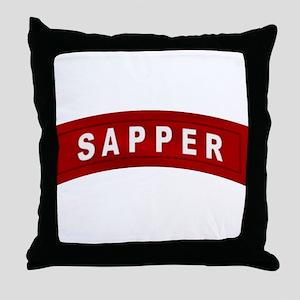 sapper_tab Throw Pillow
