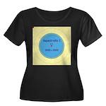 Button Image Women's Plus Size Scoop Neck Dark T-S