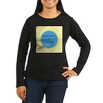 Button Image Women's Long Sleeve Dark T-Shirt