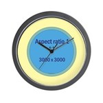 Button Image Wall Clock