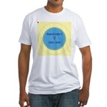 Button Image Fitted T-Shirt