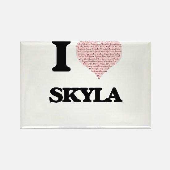 I love Skyla (heart made from words) desig Magnets